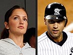 Derek Jeter Toasts His 3,000th Hit with Minka Kelly & Cupcakes