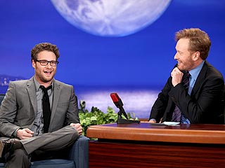 Seth Rogen: I Proposed to My Girlfriend When She Was Topless | Conan O'Brien, Seth Rogen