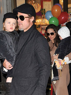 Brad Pitt and Angelina Jolie Go Holiday Shopping in Paris