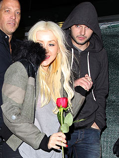 Christina Aguilera Meets New Guy's Mom