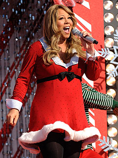 Mariah Carey (and Her Baby Bump) Perform at Walt Disney World
