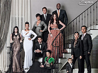 PHOTO: Merry Christmas from the Kardashians | Bruce Jenner, Khloe Kardashian, Kim Kardashian, Kourtney Kardashian, Scott Disick
