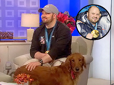 Olympic Gold Medalist Steven Holcomb Adopts a Golden Retriever!