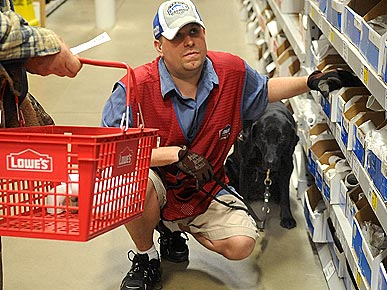 Fur in Aisle 3! Hardware Store Dog Guides Her Owner at Work