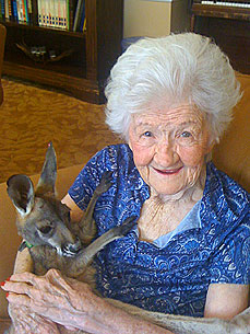 Alzheimer's Patients 'Hoppy' to See Theo the Baby Kangaroo