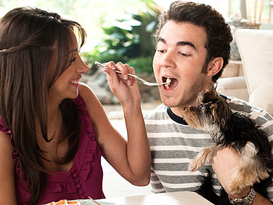 EXCLUSIVE: Kevin & Danielle Jonas Find Puppy Love with Riley