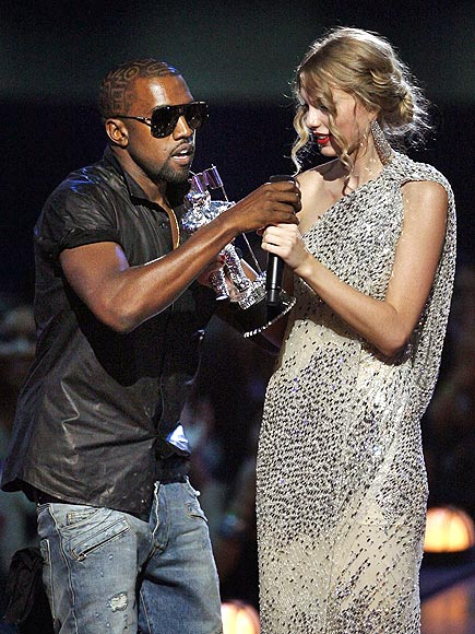 What did Kanye West say, exactly, when he interrupted Taylor Swift's speech last year? | Kanye West