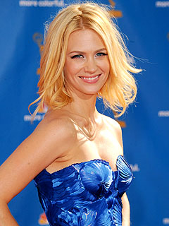 January Jones's Baby 'Had His Fingers Crossed' for Mad Men During Emmys | January Jones