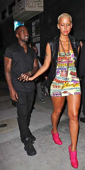GET THE MESSAGE? photo | Amber Rose, Kanye West