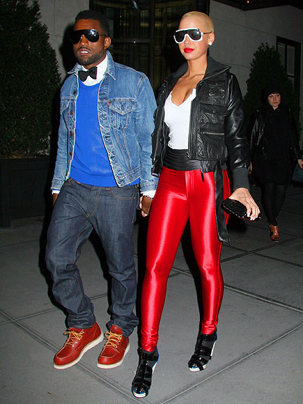 N.Y. PREP photo | Amber Rose, Kanye West