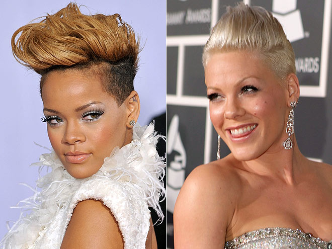 FIERCEST MOHAWK: PINK photo | Grammy Awards 2010, Pink, Rihanna