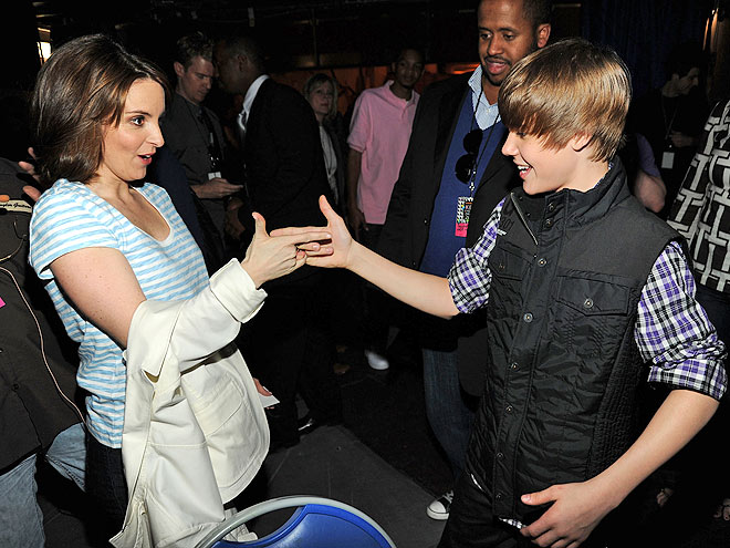 MEET 'N' GREET photo | Justin Bieber, Tina Fey