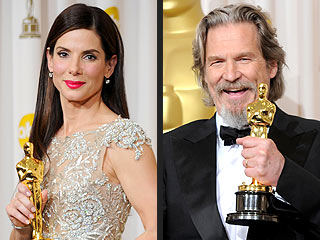 Oscar History Made: Bigelow, Bullock, Bridges Win | Oscars 2010, Jeff Bridges, Sandra Bullock