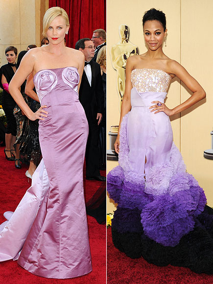 CRAZIEST-LOOKING DRESS: CHARLIZE THERON photo | Oscars 2010, Charlize Theron, Zoe Saldana