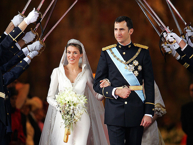 princess letizia of spain wedding dress. Princess Letizia of Spain#39;s