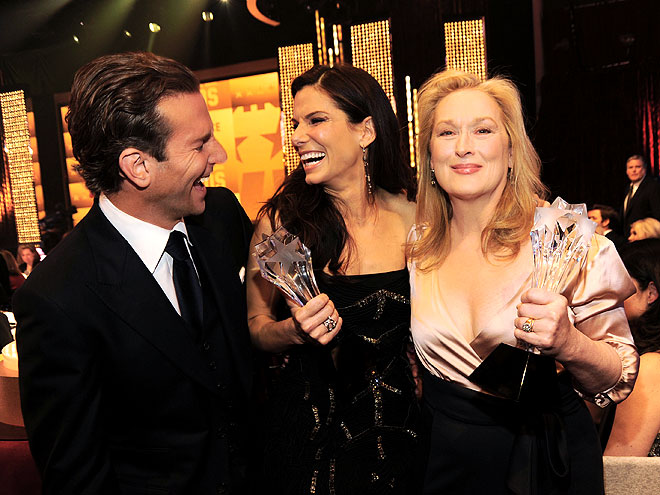 WINNERS' CIRCLE photo | Bradley Cooper, Meryl Streep, Sandra Bullock