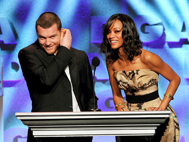 ANIMATED COSTARS photo | Sam Worthington, Zoe Saldana
