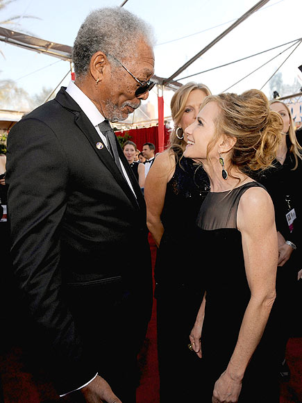HAPPY REUNION photo | Holly Hunter, Morgan Freeman