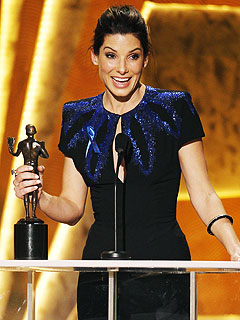 Sandra Bullock Thanks Her Hot Husband After SAG Awards Win | Sandra Bullock