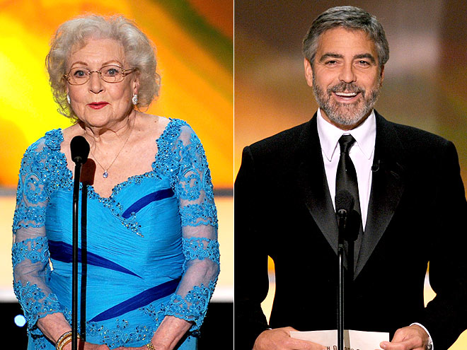 photo | Betty White, George Clooney