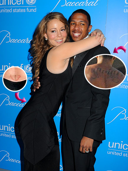 9. MATCHING TATTOOS photo | Mariah Carey, Nick Cannon