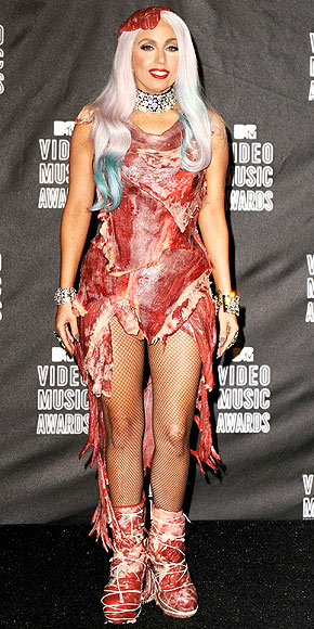 LADY GAGA'S MEAT DRESS photo | Lady Gaga