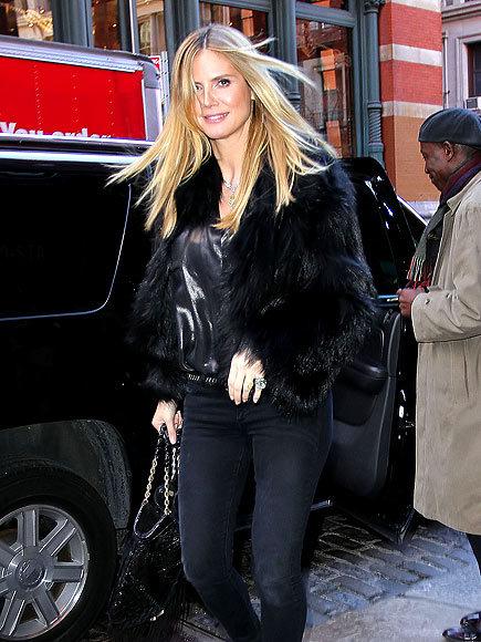 'FUR' CHIC MAMAS  photo | Heidi Klum