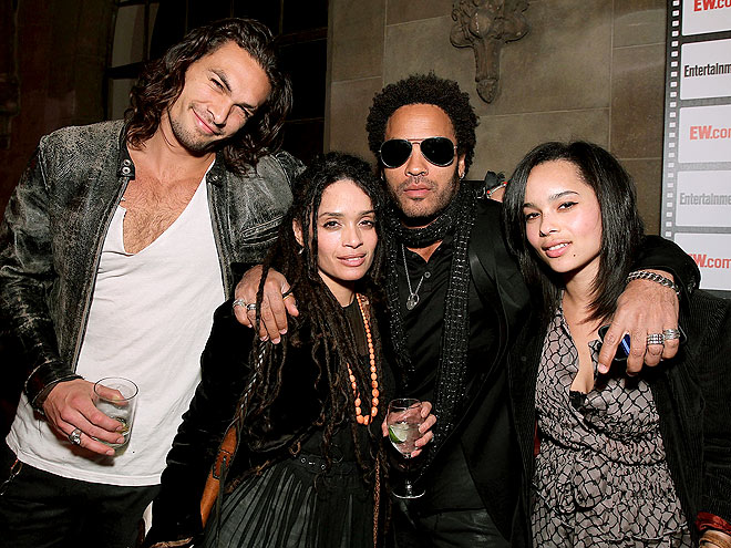 ALL IN THE FAMILY photo | Jason Momoa, Lenny Kravitz, Lisa Bonet, Zoe Kravitz