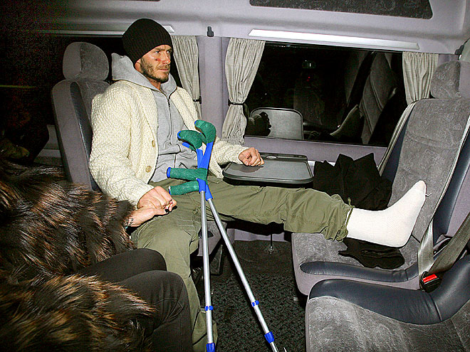 A LEG UP photo | David Beckham