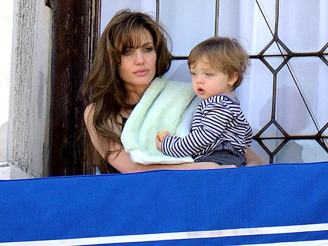 BLANKETED BABE photo | Angelina Jolie