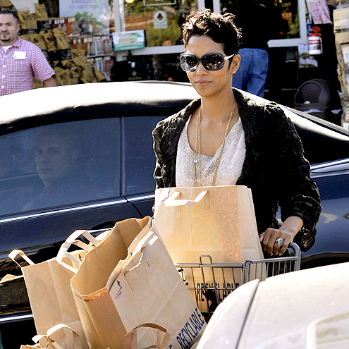 BROWN BAGGING IT photo | Halle Berry