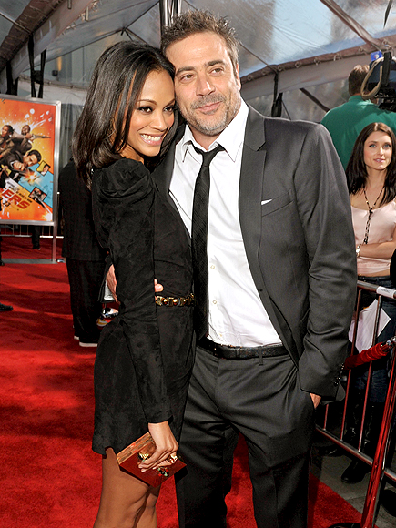 CHEEK-TO-CHEEK photo | Jeffrey Dean Morgan, Zoe Saldana