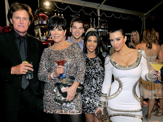 FAMILY PORTRAIT photo | Bruce Jenner, Kim Kardashian, Kourtney Kardashian