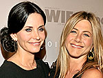 Jen Aniston & Courteney Cox Arquette Go To Dinner