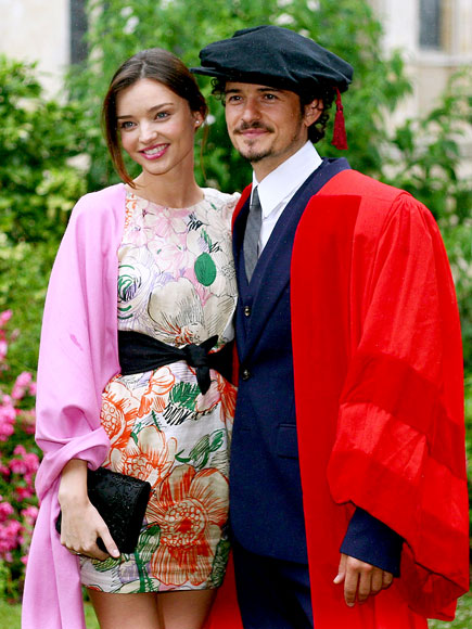 ONE DEGREE photo | Miranda Kerr, Orlando Bloom