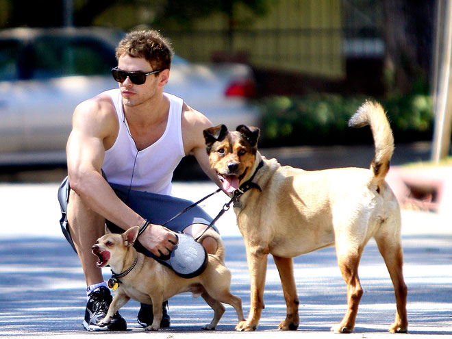 Photo of Kellan Lutz & his  Dog