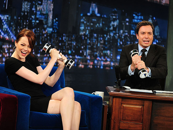 AS SEEN ON TV! photo | Emma Stone, Jimmy Kimmel