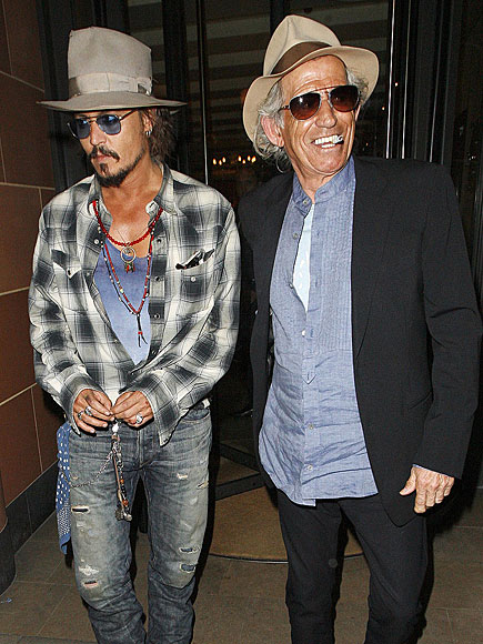 MAD HATTERS photo | Johnny Depp, Keith Richards