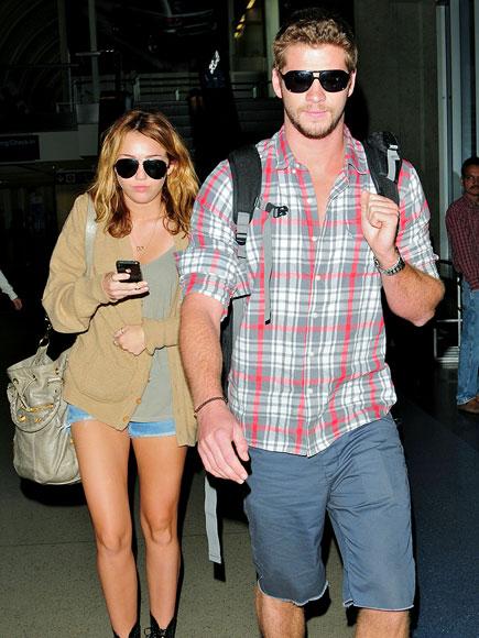 JET SETTERS photo | Liam Hemsworth, Miley Cyrus