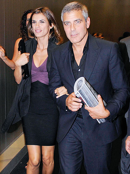 STEPPING OUT photo | Elisabetta Canalis, George Clooney
