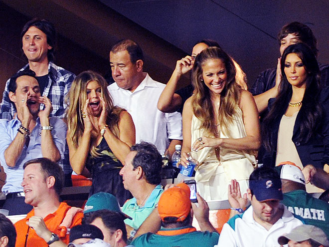 CHEER SQUAD photo | Fergie, Jennifer Lopez, Kim Kardashian, Marc Anthony