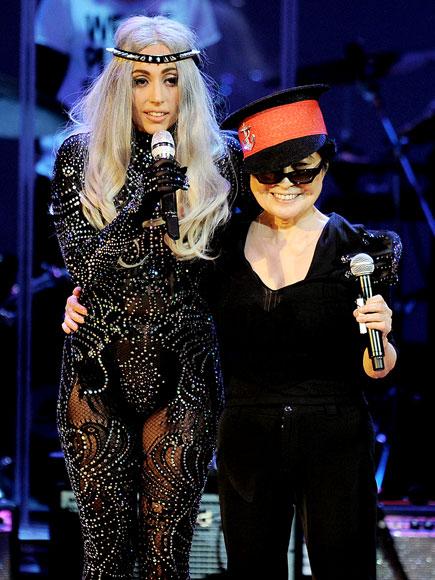 BAND TOGETHER photo | Lady Gaga, Yoko Ono