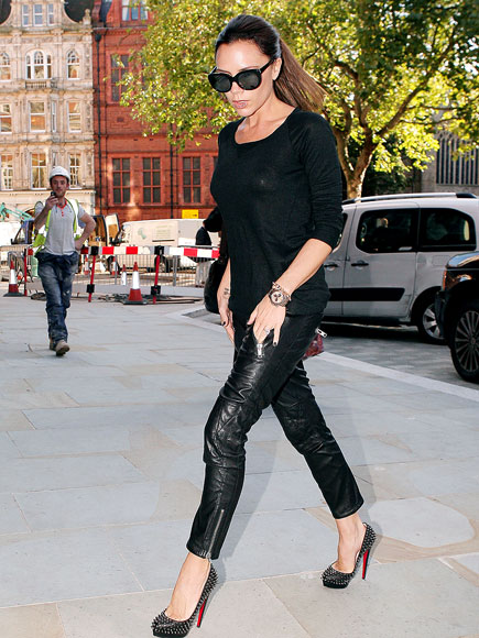victoria beckham casual outfits. Victoria Beckham in leather