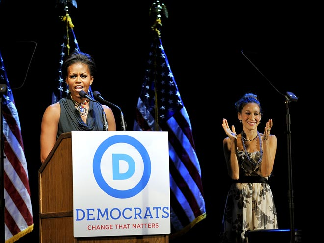 PARTY LINES photo | Michelle Obama, Sarah Jessica Parker