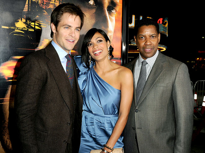 THREE'S COMPANY photo | Chris Pine, Denzel Washington, Rosario Dawson