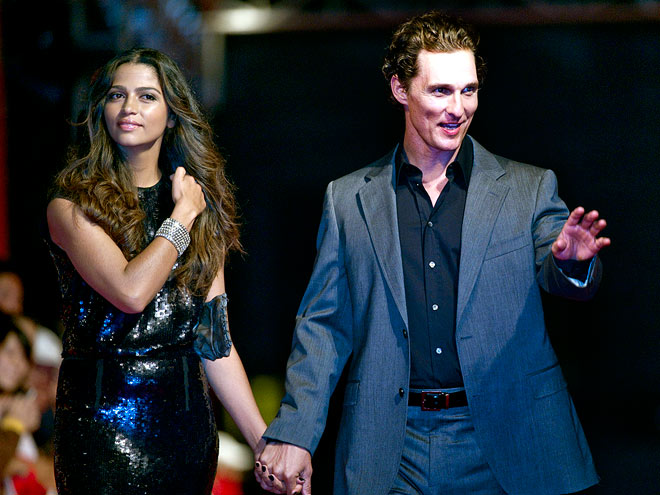 STAYING CONNECTED photo | Camila Alves, Matthew McConaughey