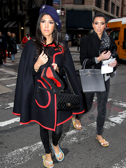 TOE-TALLY POLISHED  photo | Kim Kardashian, Kourtney Kardashian