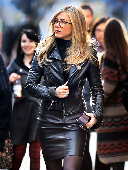 BIKER CHIC photo | Jennifer Aniston