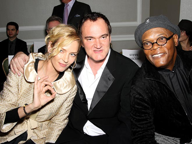 FICTION FACTION photo | Quentin Tarantino, Samuel L. Jackson, Uma Thurman