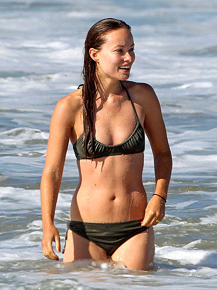 With her slim body and Dyed hairtype without bra (cup size 32B) on the beach in bikini